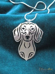 Dachshund jewelry - silver dog pendant necklace ♥♥♥♥♥♥ dauchshund dauchshunds weenier weeniers weenie weenies hot dog hotdogs doxie doxies ♥♥♥♥♥♥