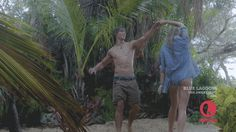 Indiana Evans and Brenton Thawites in Blue Lagoon: the Awaking