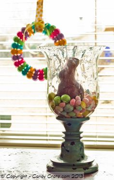 Chocolate Bunny and a Peep Wreath! Yes please :)