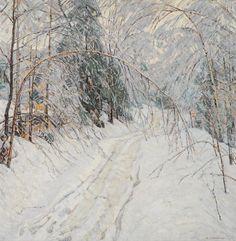 Aldro Thompson Hibbard (American, 1886-1972), Ice Storm. Oil on canvas.