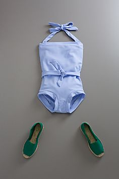 belted one piece swimsuit-p by flora and henri