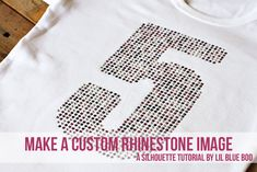 How to make a custom rhinestone image by @lil blue boo  @Silhouette America