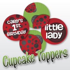 DIY Cupcake Topper Printable PDF  Little Lady by juiceboxcreations