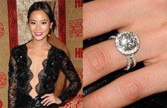 #celeb #engagement #rings#laurenb #lepozzi #laurenbjewelry #bridal #nyc #diamonds #engagementring #engagementrings #round #diamonds #pave #micropave #splitband