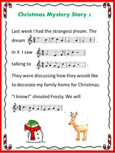 SIX Christmas Mystery Stories In order for students to complete each story, they will need to identify the given music excerpts from well-known Christmas carols and songs $