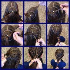Braiding french braids, little girls, crown, little girl hairstyles, daughter, school hair, braid hairstyles, kid hair, back to school