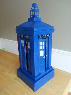 My son's Tardis Valentine's Day box.