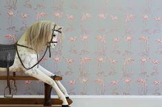 Juliet Travers - Nakaru  #flamant #FlamantRose #papierpeint #flamingo