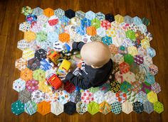 I Spy completed Hexy quilt!