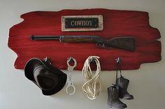 Cowboy room decor idea.