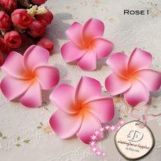 "100 PCS 2.2"" Frangipani Flowers Hawaiian Seashore Decoration Wedding Party Romance Decoration DIY Hair Jewelry Accessory"