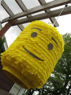 Lego Head Pinata