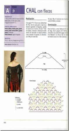 Gráfico de Chal de ganchillo/crochet