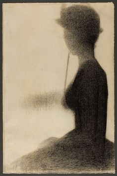 Georges Seurat, Seated Woman with a Parasol.