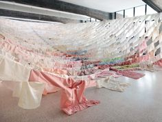 Finnish Artist Kaarina Kaikkonen Creates Dreamlike Landscapes From Second Hand Clothes