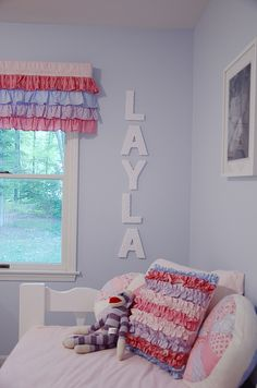 ruffle valance and pillow