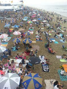 Beach of umbrellas umbrella, beach