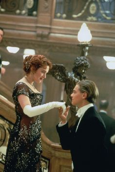 Leonardo DiCaprio and Kate Winslet in Titanic...Can't wait to see in 3-D with @alexandria nagel Roullier and @Olivia García Godt :)