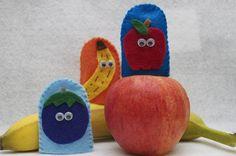 Fruit Medley Finger Puppets