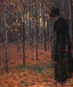 Antonín Slavíček Ve veltruském parku, 1896, detail