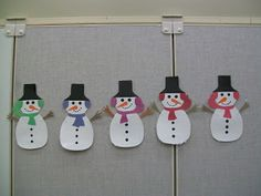Storytime Sparks. Several ideas for 5 Little Snowmen