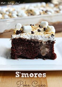 S'mores Poke Cake - Whats Cooking Love?