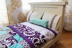 DIY Doll Beds and Tiny Quilts from fromdahliastodoxies.blogspot.com