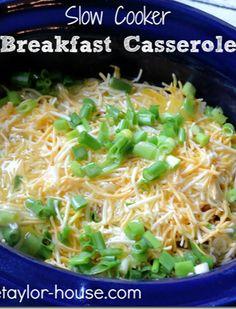 Slow Cooker Recipes: Breakfast Casserole