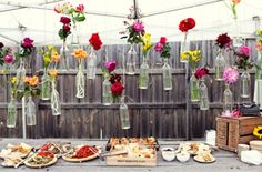 Hanging flowers--- whimsical.
