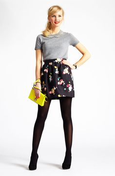 Night Out: kate spade new york sweater & skirt #Nordstrom #Holiday Fashion Shoes, Nordstrom Holiday, Skirts Nordstrom, Skirts Outfits, Girls Fashion, New York, Girls Shoes, Kate Spade, York Sweaters
