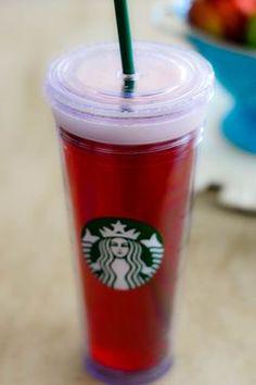 Make your own Starbucks passion tea lemonade.