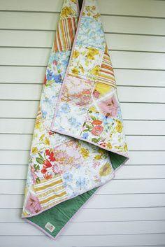 vintage sheet patchwork quilt.