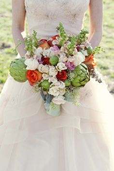 artichoke wedding bouquet // photo by ChristaElyce.com