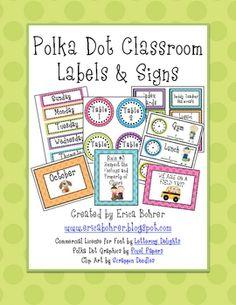 Polka Dot Labels!