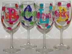 LARGE Personalized Wine Glass.