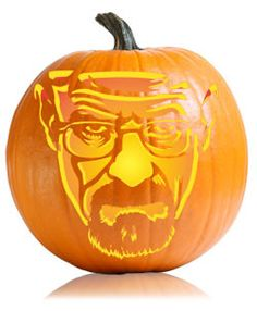 white break, break bad, pumpkin carving patterns, pumpkin carving stencils, halloween pumpkins, breaking bad halloween, pumpkin carvings, white pumpkins, walter white