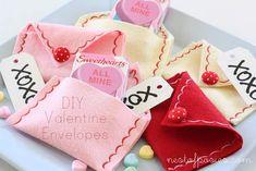 Cute felt valentine envelopes