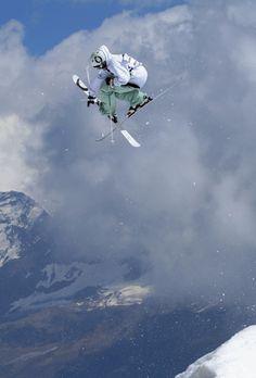 Extreme skiing- follow us www.helmetbandits.com like it, love it, pin it, share it!