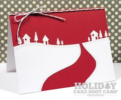 My Card next year (nobody take it!) This means YOU!  Memory Box Country Landscape Die christma card, card idea, memori box, memory box christmas cards, box countri, road