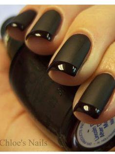 Matt black nails!