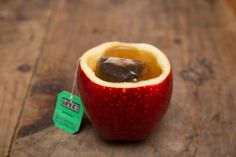 Add extra flavor to your tea by drinking from an apple.