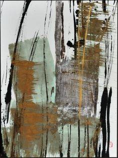 """Sachiyo Kaneko, """"Wind"""", ink on paper"""