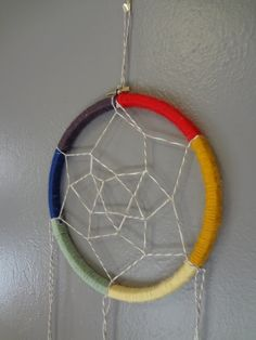 DREAMCATCHER: Rainbow dreamcatcher tutorial