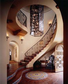 Spanish style entry