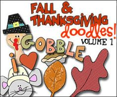 Fall & Thanksgiving Doodles Volume 1 - Applique Patterns | Sewing Patterns | YouCanMakeThis.com
