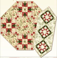 Peppermint and Pines Tablerunner and Tabletopper Pattern by Sonja Lea Designs at KayeWood.com. The darling topper & runner feature pine trees nestled into the star points and peppermint stripe accents. A wonderful addition to compliment your home decor for the holidays. http://www.kayewood.com/item/Peppermint_and_Pines_Tablerunner_and_Table_Topper_Pattern/3672 $9.00