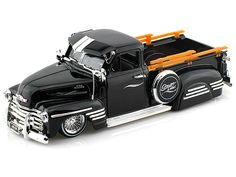 1951 Chevy Pick Up Truck w/ wired wheels 1/24 Black