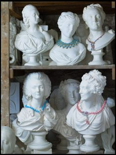 If you have the room, these table busts are a fun way to display nice jewelry.