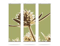 Propeller in Grass - Triptic Hanging Fabric Panels