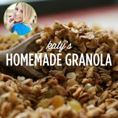 Homemade granola is easy & delicious! Here's a @Katy Atlas recipe.
